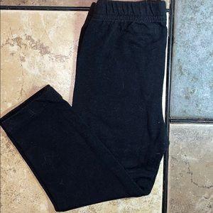 Basic Black Elastic Waist Stretchy Leggings